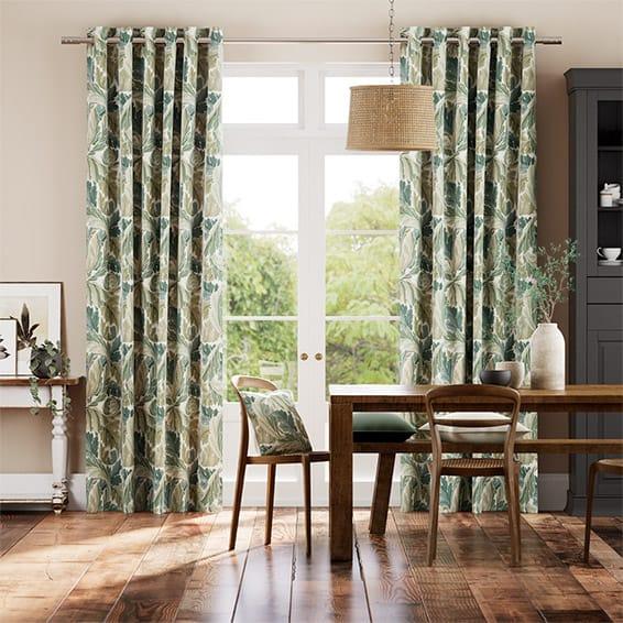 William Morris Acanthus Celadon Curtains