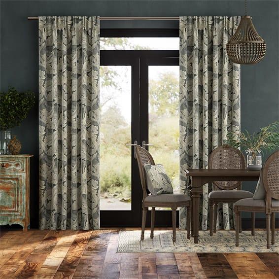 William Morris Acanthus Velvet Mineral Curtains