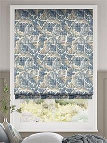 William Morris Acanthus Vintage Blue Roman Blind thumbnail image