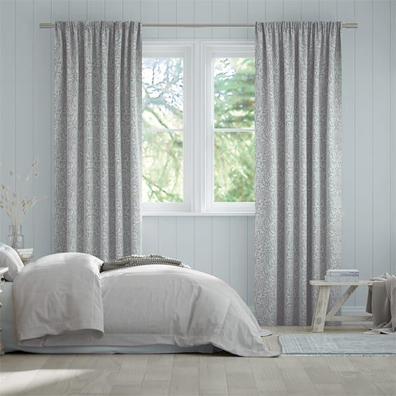 William Morris Acorn Dove Curtains