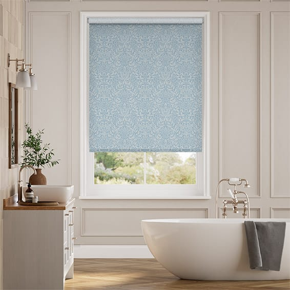 William Morris Acorn Soft Blue Roller Blind