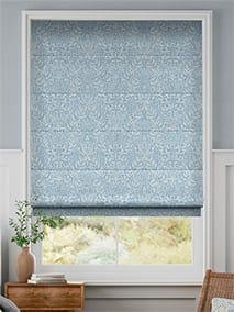 William Morris Acorn Soft Blue Roman Blind thumbnail image