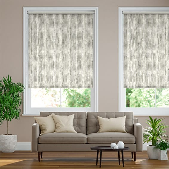 Adriana Glimmer Blackout Ivory Roller Blind