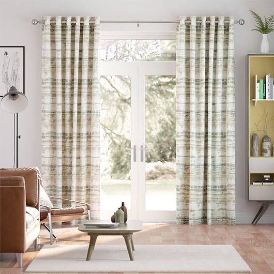 Aguas Linen Pebble Curtains