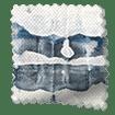 Aguas Linen Splash Blue Roman Blind sample image