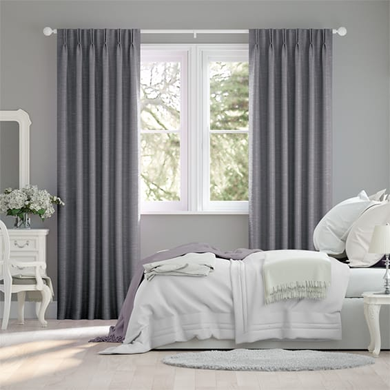Ahisma Luxe Faux Warm Grey Curtains