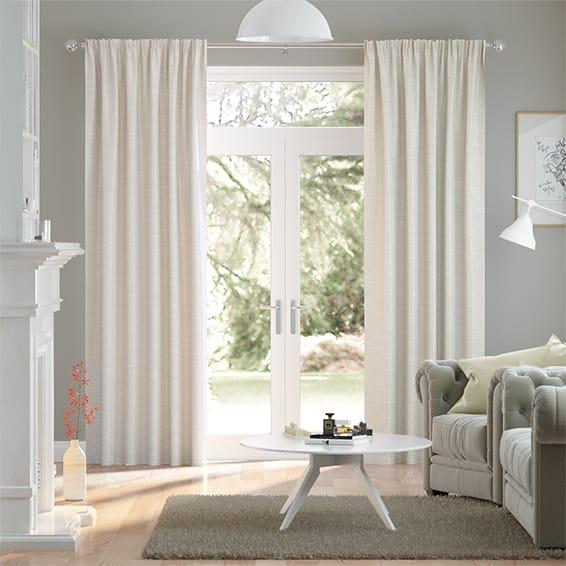 Ahisma Luxe Faux Silk Pearl Curtains