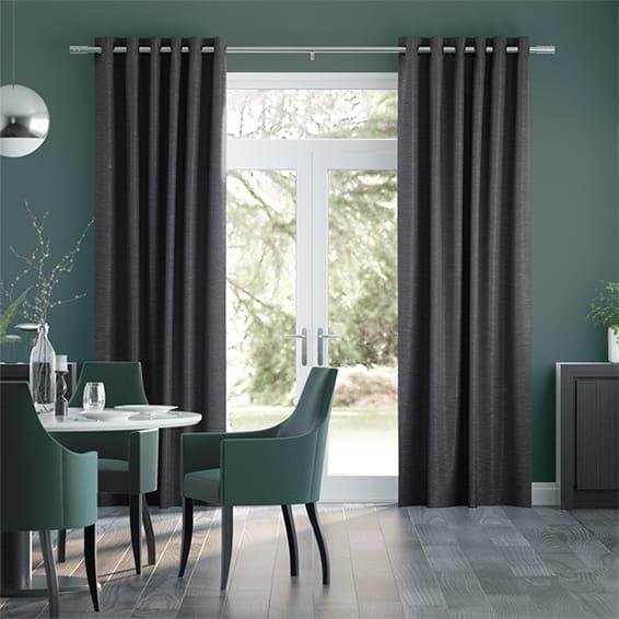 Ahisma Luxe Faux Silk Slate Curtains