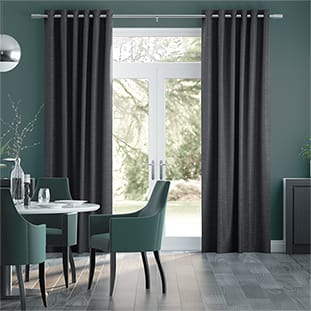 Ahisma Luxe Faux Silk Slate Curtains thumbnail image