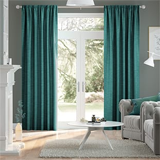 Ahisma Luxe Faux Silk Turquoise Curtains thumbnail image