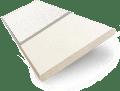 Alabaster & Vanilla Faux Wood Blind - 50mm Slat slat image