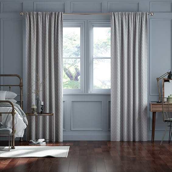 Alcyone Silver  Curtains