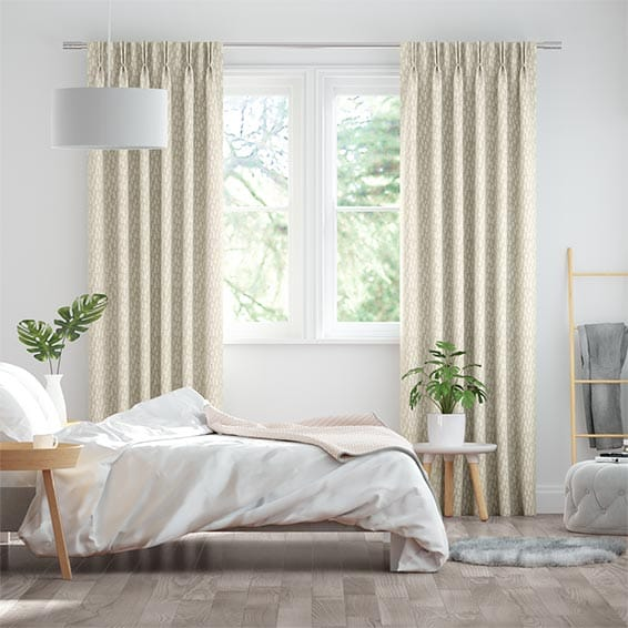 Alcyone White Gold Curtains