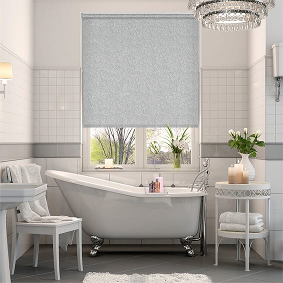 Alicante Blackout Marble Silver Roller Blind