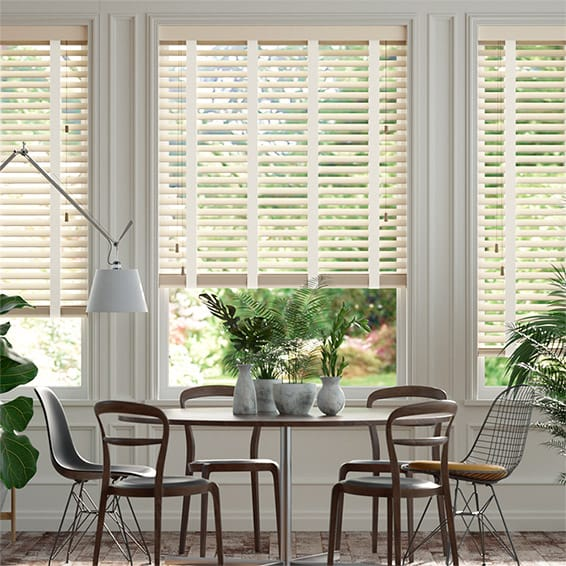 Almond & Vanilla Wooden Blind - 50mm Slat
