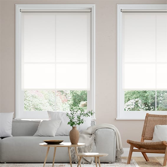 Amalfi Simply White Roller Blind