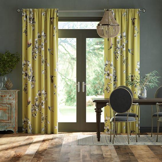 Amazilia Lime Curtains
