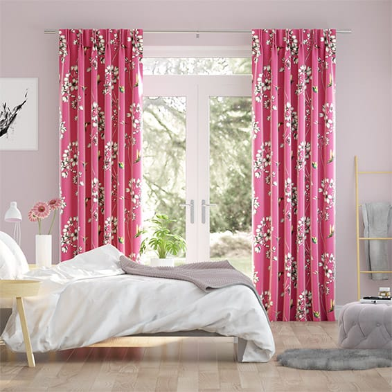 Amazilia Raspberry Curtains