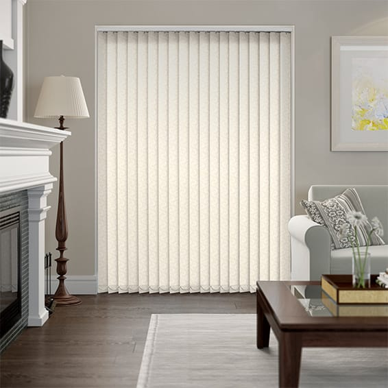 Amelia Blackout Cream Vertical Blind