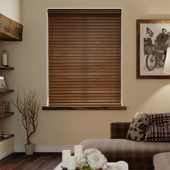 American Walnut Wooden Blind - 50mm Slat