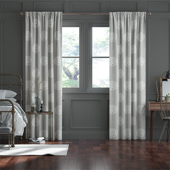 Amity Silver Curtains