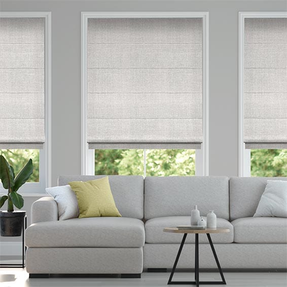 Amore Silver Roman Blind