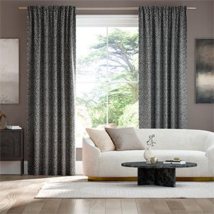 Amur Speckled Noir Curtains thumbnail image