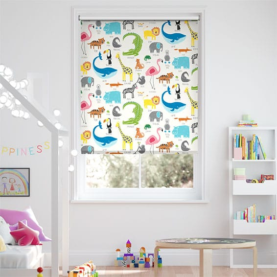 Animal Magic Chalk Blackout Roller Blind