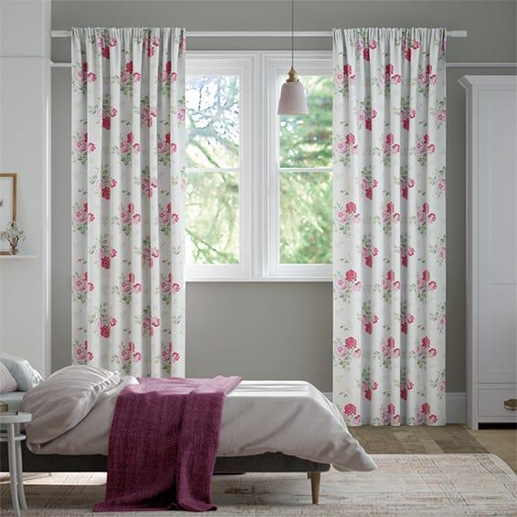 Antique Rose Pink Curtains