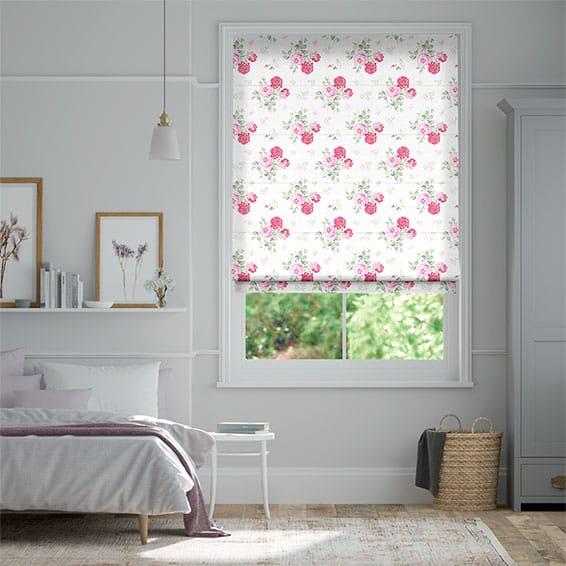 Antique Rose Pink Roman Blind