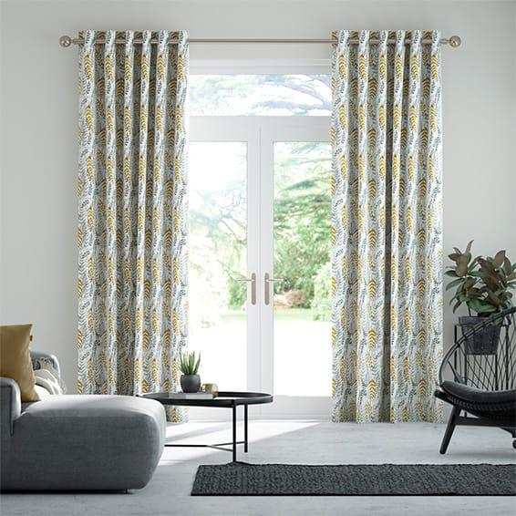 Arboretum Linen Sunshine Curtains