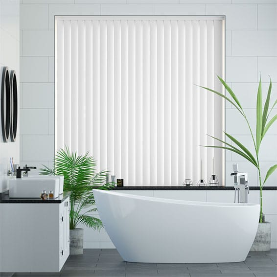 Arcadia Sugar White Vertical Blind