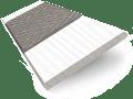 Arctic White & Paloma Faux Wood Blind - 50mm Slat slat image