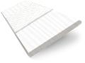 Arctic White & White Faux Wood Blind - 50mm Slat slat image