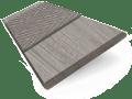 Ash Grey & Cadet Faux Wood Blind - 50mm Slat sample image