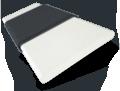 Atlanta Winter White & Midnight Faux Wood Blind - 50mm Slat slat image