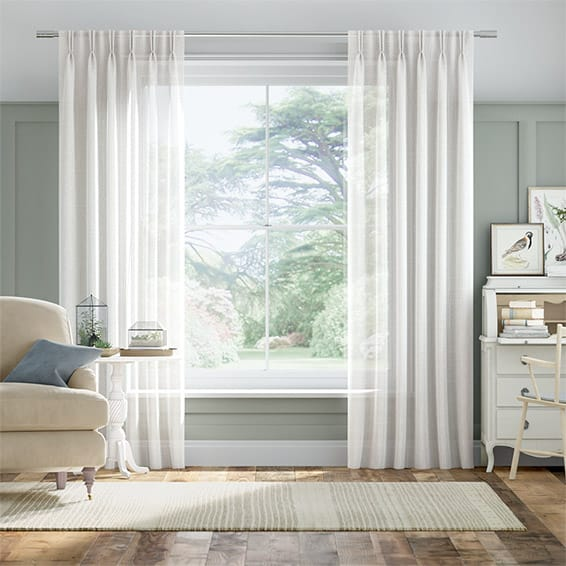 Aurora Voile Ice White Curtains