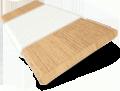 Autumn Oak and Soft Cotton Wooden Blind - 50mm Slat slat image