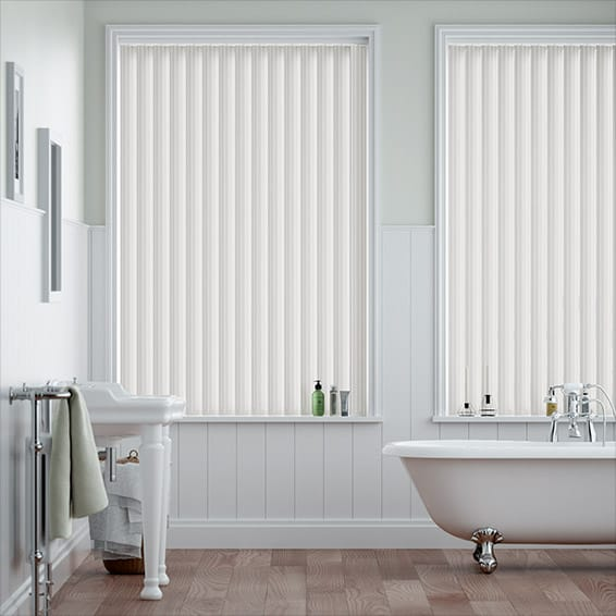 Ava China White Vertical Blind