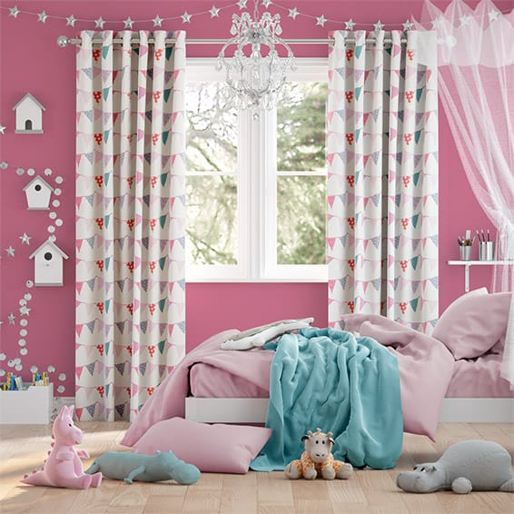 Baby Bunting Dainty Pink Curtains