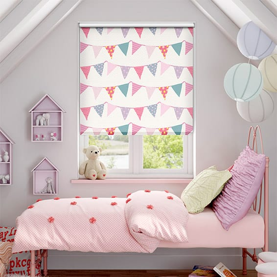 Baby Bunting Blackout Dainty Pink Roller Blind