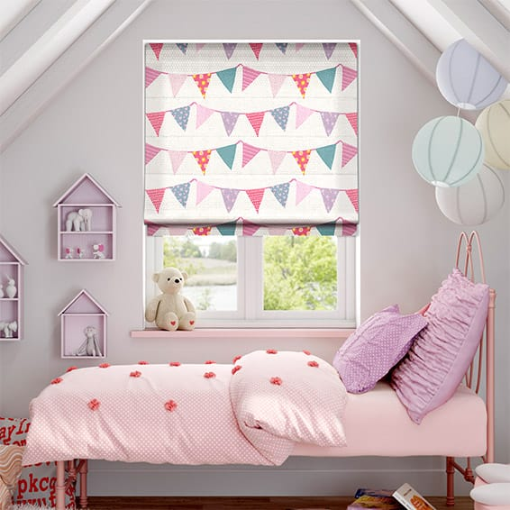 Baby Bunting Dainty Pink Roman Blind