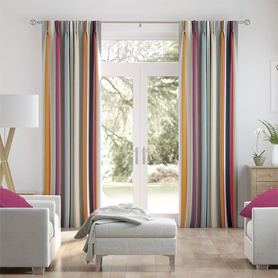 Bali Fuchsia Curtains