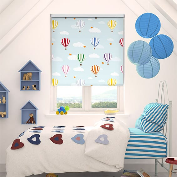 Balloons Flying High Blackout Roller Blind