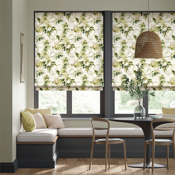 Bamboo Silhouette Forest Roman Blind