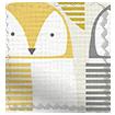 Barnie Owl Dandelion Roman Blind slat image