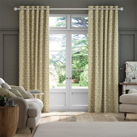 Baroc Saffron Curtains