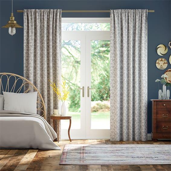 Baroc Silver Curtains