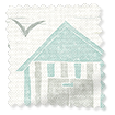 Beach Huts Mineral Roller Blind sample image