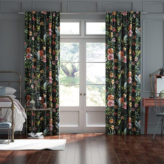 Bella Heron Midnight Curtains